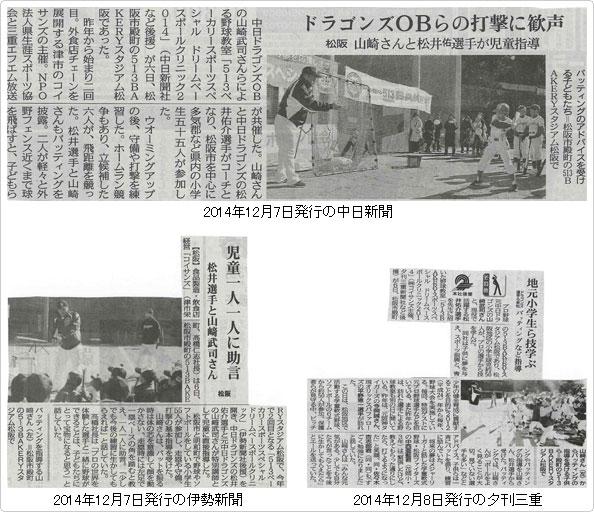 中日新聞・伊勢新聞・夕刊三重にドリームベースボール ...